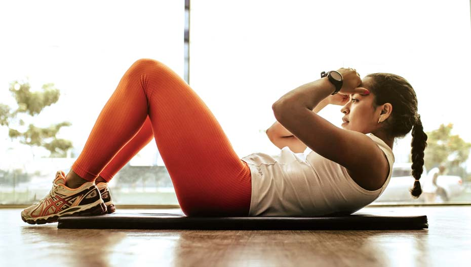 Crunches exercise