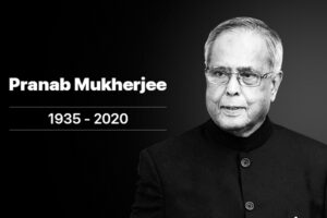 Pranab Mukherjee died on 31 august